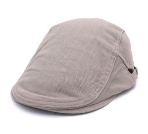 Plain Cotton Flat Cap