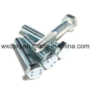 Carbon Steel Hexagon Head Zinc Plated Hex Thread Bolt