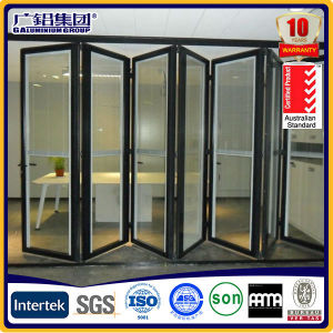 Aluminum Patio Double Glass Sliding Folding Doors Aluminium Folding Doors pictures & photos