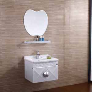 Stainless Steel Bathroom Vanity with Apple Shape Mirror pictures & photos