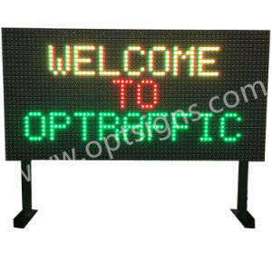 LED Sign Display Full Color Variabe Traffic Signs Vms WiFi Programmable LED Message Board pictures & photos