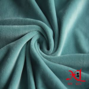 Super Soft High Stretch One Side Fleece Fabric for Garment pictures & photos