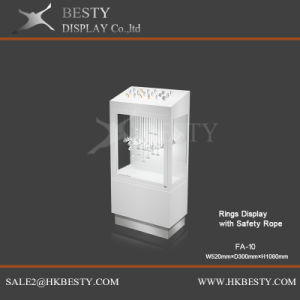 Jewelry Ring Safety Showcase with Storage