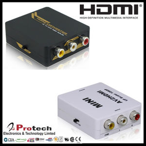 Digital HDMI to Analog AV Composite RCA TV Converter Pethc