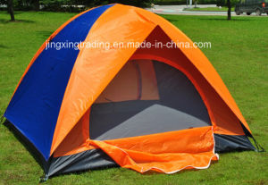 Waterproof Double-Skin Polyester Camp Tent for 2-4 Persons (JX-CT020-1) pictures & photos