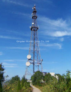 Roof Top Steel Tower/Telecom Tower/Guyed Tower/Microwave Tower pictures & photos