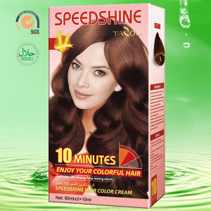 10 Minutes Hair Color Cream Light Brown 5.0 30ml*2+5ml pictures & photos