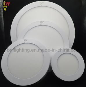 New Ce RoHS SMD 6W 12W 15W 18W 24W Round and Square Ultra Slim Wall Surface Mounted LED Panel Light for LED Ceiling Light &Lighting pictures & photos