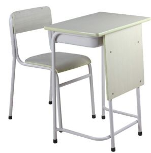 School Furniture for School Wooden Single Desk and Chair pictures & photos