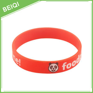 for Sales Screen Printed Silicone Wristbands pictures & photos