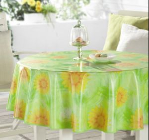Plastic Tablecloth with Nonwoven (TJ0320-A) pictures & photos