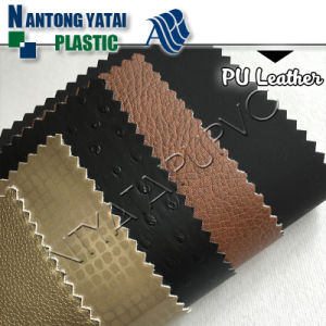 Cotton Backing Technics PU Synthetic Leather for Trendy Furniture Upholstery