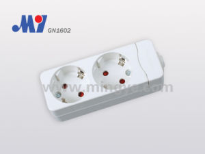 2 Ways German Socket, W/O Cable (GN1602)