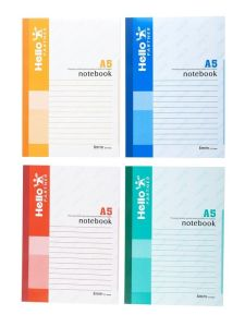 A5 Glue Binding Notebook (D6344-D6347)