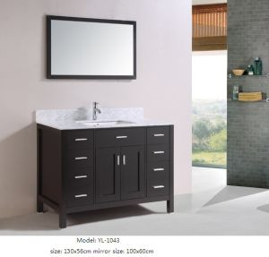 Solid Wood Bathroom Furniture with Mirror