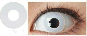 Cosplay Pure White Crazy Contact Lens