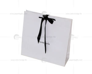 White Gift Bag with Black Ribbon Gift Packaging  sc 1 st  Dongguan Color-Full Package Manufacturer Co. Ltd & China White Gift Bag with Black Ribbon Gift Packaging - China Gift ...