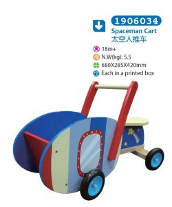 Wooden Push Along Cart for Children for Kids pictures & photos