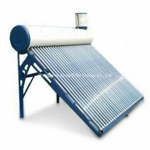Evacuated Vacuum Tube Solar Water Heater with Assistant Tank pictures & photos