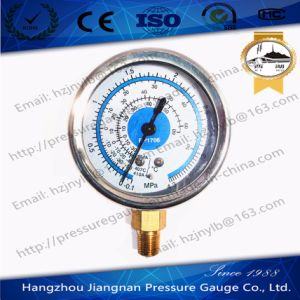 63mm 2.5′′ 4.3MPa Ss Refrigeration Pressure Gauge for R404A/R407c/R410A pictures & photos