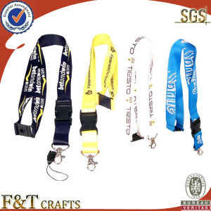 2014 Satin Thermal Transfer Printed Phone Lanyard with ID Card Holder pictures & photos