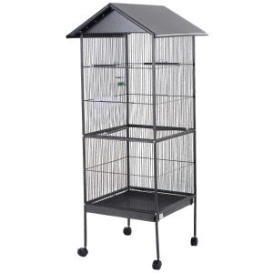 "61"" Large Parrot Bird Cage Top Pet Supplies W/Perch Stand Two Doors Iron Birdcage pictures & photos"