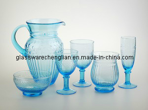 Set of 6PCS of Hand Made Solid Color Glassware (D03S-002, 003) pictures & photos