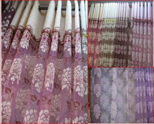 Jacquard Curtain Fabric (K010)