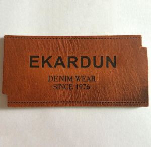 Factory Eco-Friendly Wholesale PU Leather Label pictures & photos