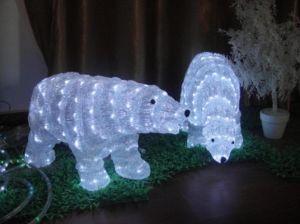 polar bear sculpture lights