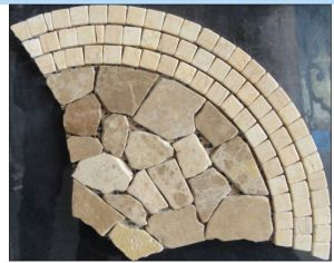 Fan Pattern Marble Stone Mosaic Floor Tile (HSM137) pictures & photos