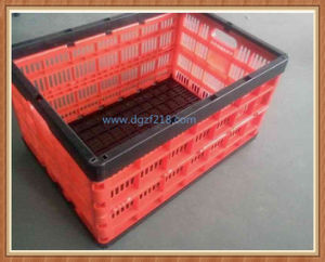 Colored Plastic Folding Storage Basket Container for Fruits, Vegetable
