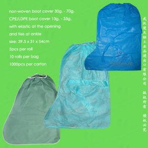 Polypropylene Nonwoven/ PP+PE/SMS/PP Disposable Overboots for Medical & Surgical Sectors pictures & photos