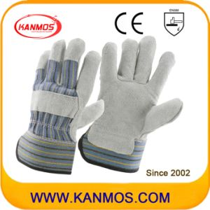 Industrial Safety Cow Split Leather Work Gloves (110074)