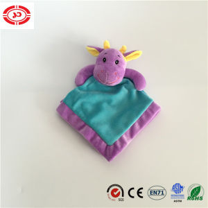 Purple Head Embroidered with Blue Body Baby Tender Wash Blanket pictures & photos