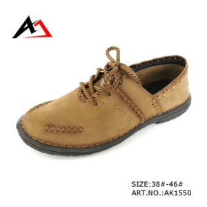 Leather Casual Shoes Classic Fashion Lace-up Footwear for Men (AK 1550) pictures & photos
