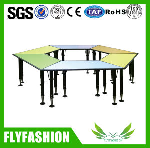 Trapezoidal Children Table, Adjustable Kids Study Table (SF-41C) pictures & photos