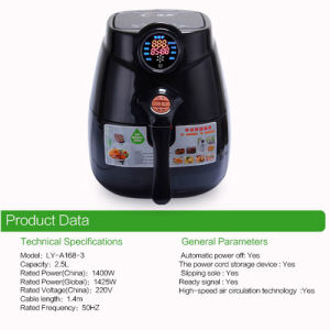 2016 Popular Non-Stick Air Fryer Oil Free Cooking (A168-2)