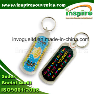 Long Acrylic Key Ring with Paper Insert pictures & photos