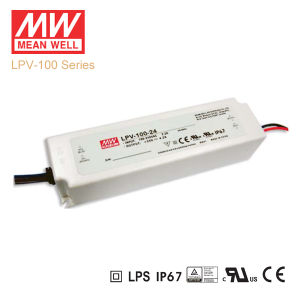 Original Meanwell Lpv-100 Series Single Output Waterproof IP67 LED Driver pictures & photos