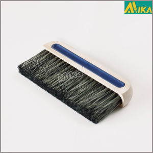 Vulcanized Bristle in Comfortable Bonded Wooden Handle Paperhanging Brush