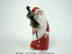Factory Direct Sale Santa Claus for Christmas Decorations with Trees in Hand pictures & photos