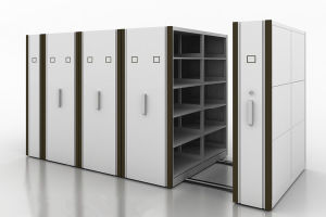 High Density Stockroom Mobile Shelving Systems pictures & photos
