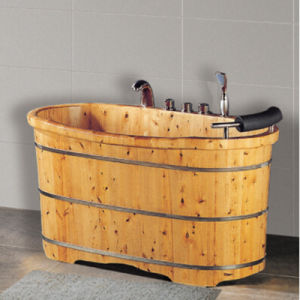 Bathroom Wooden Soaking SPA Bath Tub (NJ-050A) pictures & photos