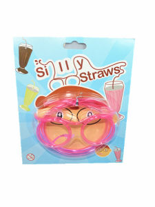 PVC Children Magic Straw Wearing Plastic Straws Resable Party Use