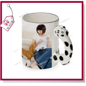 11oz Sublimation White Ceramic Kids Mug with Animal Handle pictures & photos