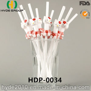 PP Folding Plastic Drinking Straw with Doll (HDP-0034) pictures & photos