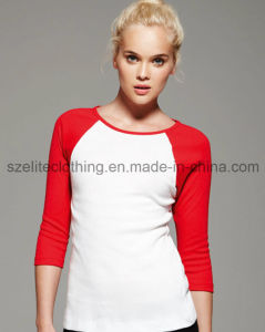 3/4 Sleeve Female Raglan Sleeve T-Shirt (ELTWTJ-293) pictures & photos