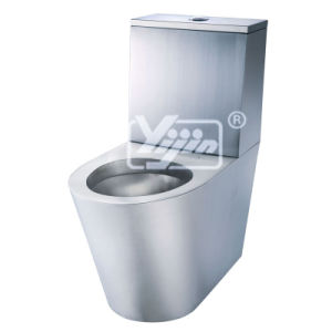 Hand Made Stainless Steel T-304 Toilet Equipped with Water-Flush Cistern