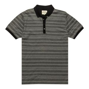 3 Color Stripe Fashion Custom Polo Shirt (PS075W) pictures & photos